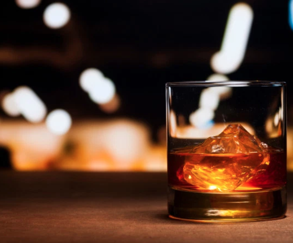 Photo of glass of Whiskey